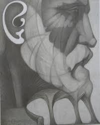 sketch gaudi head by josep maria subirachs disegni dal mondo