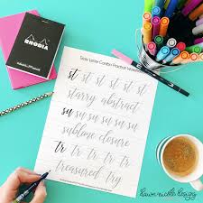 downloadable writing paper 10 free hand lettering practice worksheets dawn nicole designs tricky letter combo practice sheets set 3 of reader requested letter combos i
