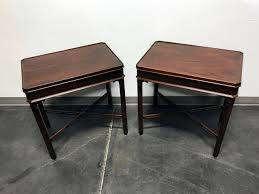 wellington hall end table sold out wellington hall mahogany chippendale side end tables