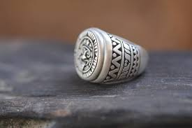 silver ring for men rings for men silver ring patterned ring personalized mens