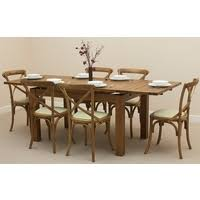 Solid Oak Extending Dining Table And 6 Chairs Dining Tables For Sale Uk Online Shop