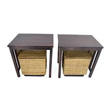 coffee table with baskets under coffe table splendi coffee table with baskets for storage