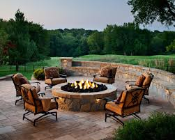 Firepit Seating Gas Outdoor Pit Table Exquisite Outdoor Seating Around