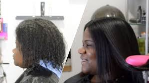 natural hair vs hair straightening brush salonwork youtube