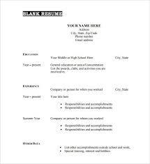 Resume Builder Canada Free Blank Resume Templates For Microsoft Word Resume Sample