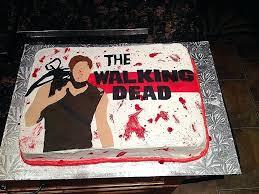 walking dead cake ideas easy cakes for birthday lovely the walking dead cake