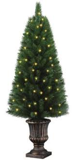 home accents 4 ft potted artificial tree with 50
