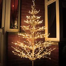 Outdoor Lighted Christmas Decorations by Beautiful Led Tree 6ft Outdoor Branch Tree With 640 Warm White