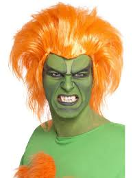 street fighter halloween costumes street fighter blanka wig men u0027s fancy dress wigs mega fancy dress