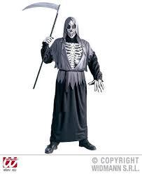 Halloween Reaper Costume Mens Grim Reaper Costume Small Uk 38 40