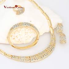 necklace sets designs images Westernrain charms style gold plated jewelry chunky necklace sets jpg