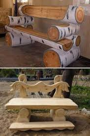 make your own rustic log bench cabin living kool ideas