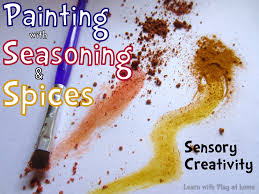 learn with play at home painting with seasoning and spices