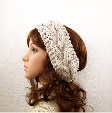 knitted headbands knit headband wrap ear warmer oatmeal or your