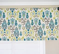Lime Green Valances Blue Kiwi Green Valance Panel Sage Aqua Teal By Thedesignertouch