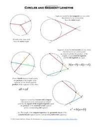 Segment Lengths In Circles Worksheet Answers Angles In Circles Secants Tangents And Chords Partner
