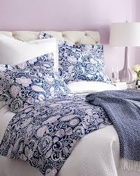 Sferra Duvet Cover Sferra Navy U0026 Lilac Floral Bedding