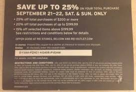 rei member sale and coupon code timing