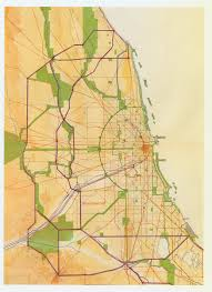 Map Metro Chicago by Daniel Burnham And The1909 Plan Of Chicago