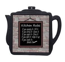 kitchen rules plaque home decor wall plaque kitchen signs cast