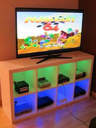 i modified an ikea bookshelf to make a console cabinet very happy