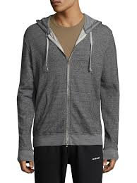 Save Khaki French Terry Zip Hoodie In Gray For Men Lyst