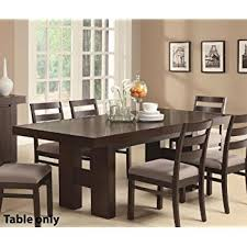 Amazoncom Wood Dining Table With Pull Out Extension Leaf In - Pull out dining room table