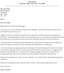 distribution manager cover letter example u2013 cover letters and cv