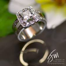 wide band engagement rings wide band halo engagement ring miller jewelry designers