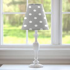 gray and white polka dot lamp shade carousel designs