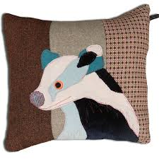 Stag Cushions Badger Carola Van