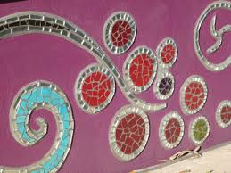 Garden Wall Ornaments by Concrete Retaining Wall Ideas Post Of With Mosaic Art Designs