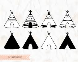 teepee tribal tribe cut file in svg dxf png pdf formats for