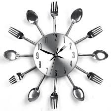 Modern Kitchen Clocks Modern Kitchen Cutlery Wall Clock By The Four Spades The Four