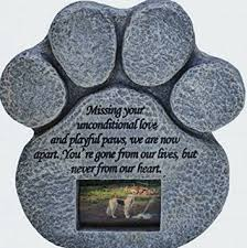 amazon com paw print pet memorial stone features a photo