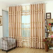 Luxury Modern Curtains Lime Green And White Print Poly Cotton Blend Modern Curtains For
