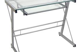 Glass And Chrome Desk Satisfactory Design Of Oval Glass Desk Stunning Desk You Can Stand
