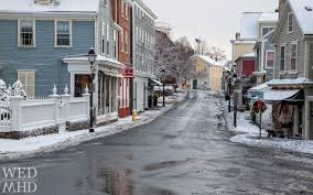 empty streets in historic downtown parking ban is in effect