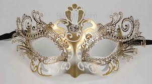 gold masquerade mask laser cut metal venetian mask white gold tragic mountain