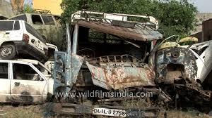 junkyard car youtube old broken cars for recycling in junkyard delhi youtube