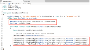 android radio button adding radio buttons to an android app with xamarin codemahal