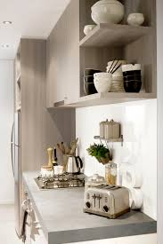 benchtops in formica cast concrete pantry and upper cupboards in