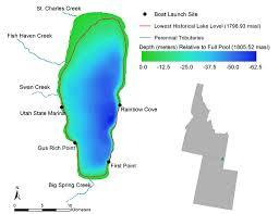 Bear Lake Utah Map by Bear Lake Ut Id Drought Littoral Habitat And Endemic Fishes