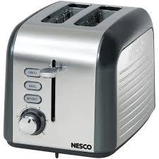 Best Toaster Uk Amazon Com Nesco T1000 13 2 Slice Toaster Black Kitchen U0026 Dining