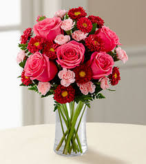 Red Flowers In A Vase Elgin Florist Flower Delivery By Floral Excellence