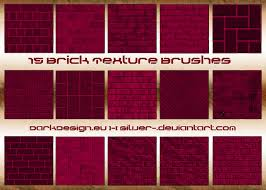 Brick Texture Paint - brick texture brushes by silver on deviantart
