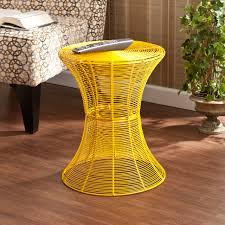 Yellow Side Table Yellow Metal Side Table Home Furnishings