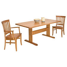 solid wood trestle dining table lyndon furniture american made