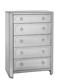 Mirror Chest Of Drawers Chapman Five Drawer Tall Chest Antique Mirror U0026 Silver Leaf