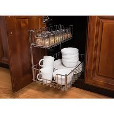 easy home expandable under sink shelf trinity 2 compartment sliding wire undersink organizer 2 pack tbfc